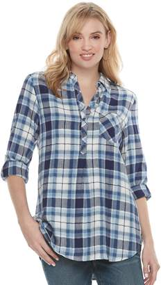 Sonoma Goods For Life Women's SONOMA Goods for Life Button Printed Shirt