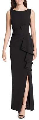 Eliza J Ruffle-Detail Gown