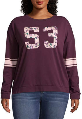 Fifth Sun Floral 53 Sweatshirt - Juniors Plus