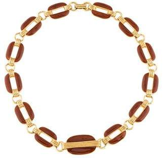 Lanvin Enamel Link Necklace