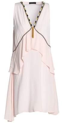 Antik Batik Bead-Embellished Ruffled Crepe Mini Dress