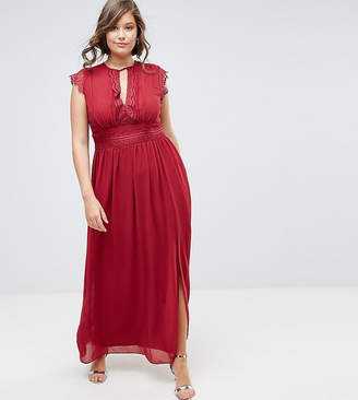 TFNC Plus WEDDING Lace Detail Maxi Dress