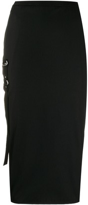 Rick Owens strap detail pencil skirt