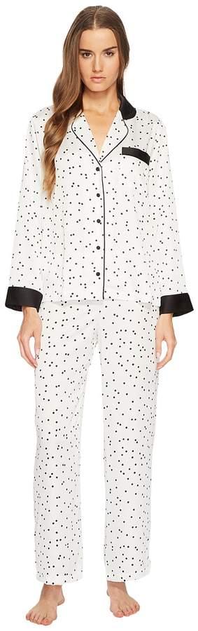 Kate Spade New York - Scattered Dot Satin Pajama Set Women's Pajama Sets
