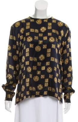 Christian Dior Silk Printed Top