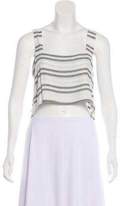 Reformation Sleeveless Stripped Crop Top