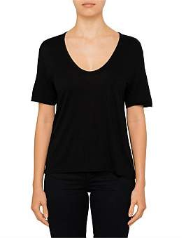 Alexander Wang Classic Cropped Tee With Chest Pocket