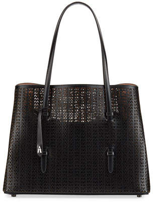Alaia Mina Medium Laser-Cut Tote Bag