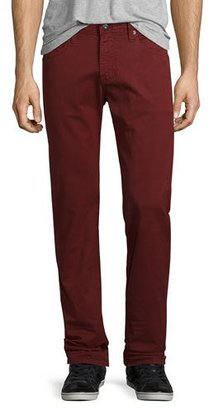 AG Matchbox Dark Red Denim Jeans $178 thestylecure.com