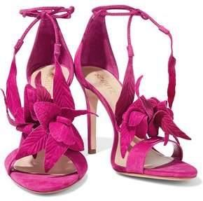 Schutz Embossed Nubuck And Suede Sandals