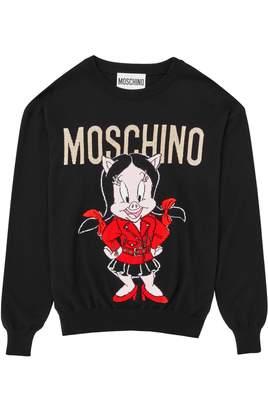 Moschino Petunia Pig Wool Sweater