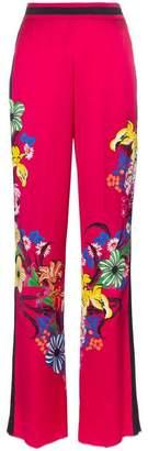 Etro high waist floral print wide-leg trousers