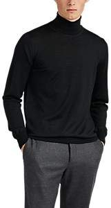 Brioni Men's Fine-Gauge Wool-Blend Turtleneck Sweater - Charcoal