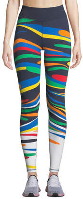 Tory Sport Splash Printed Performance Leggings