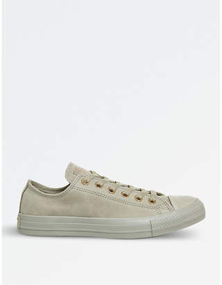 Converse suede low-top trainers