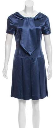 Zac Posen Pleated Silk Dress