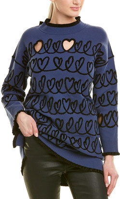 Fendi Mock Neck Wool-Blend Sweater