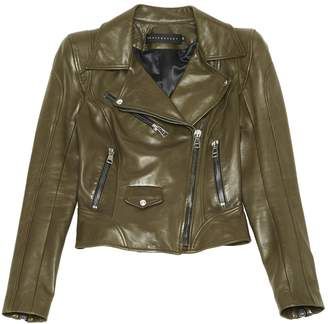 Ventcouvert Khaki Leather Leather jackets