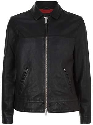 AllSaints Hayne Leather Jacket