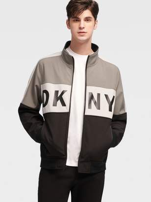 DKNY Colorblock Logo Soft-shell Jacket