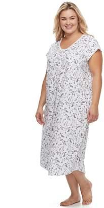 Croft & Barrow Plus Size Pajamas: Lace V-Neck Nightgown