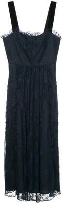ALEXACHUNG Alexa Chung embroidered lace midi dress