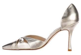 Manolo Blahnik Leather d'Orsay Pumps