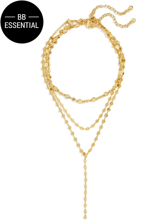 Aimee Layered Y-Chain Necklace