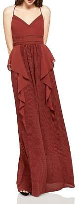 BCBGeneration Ruffled Check Maxi Dress