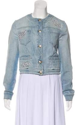 Blumarine Denim Embellished Jacket