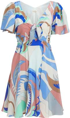 Emilio Pucci Twist Front V-Neck Mini Dress