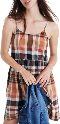 Madewell Plaid Babydoll Cami Dress