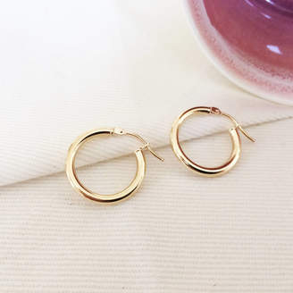 At Notonthehighstreet Argent Of London Chelsea 9ct Gold Hoop Earrings