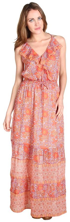 Joie Delia Maxi Dress (Blood Orange) - Apparel