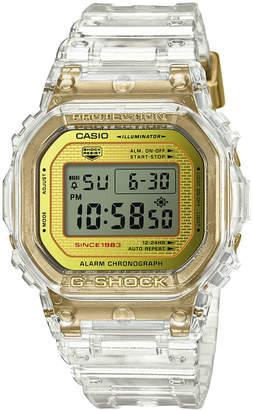 G-Shock Men Digital Clear Resin Strap Watch 42.8mm