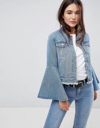 Only Denim Jacket With Volume Sleeve