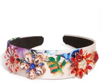 CaraCara Flower Rhinestone Headband