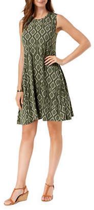 Style&Co. STYLE & CO. Petite Petite Ikat Print Swing Dress
