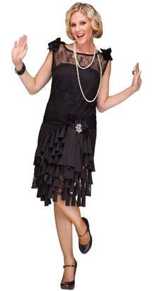 Fun World Costumes Fun World Women's Flirty Flapper Costume Black Small