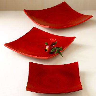Red Bamboo Table Decor