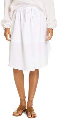 dbbe46488 Vince Tie-Front Full Cotton Skirt