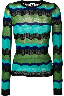 M Missoni embroidered colour-block sweater