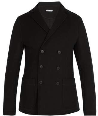 Tomas Maier - Double Breasted Felted Ponte Blazer - Mens - Black