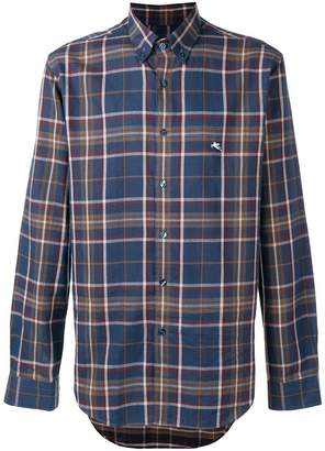 Etro plaid button down shirt