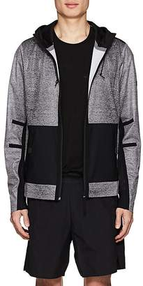 Isaora Men's Mesh-Print Hooded Jacket