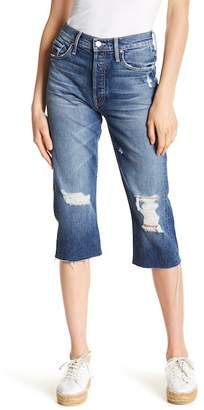Mother Tomcat Distressed Crop Skinny Jeans