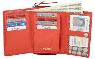 Tresori Women's Real Leather RFID Data Protected Multiple Pocket Wallet-Printed Dog Design