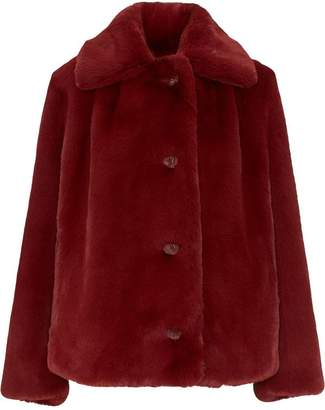 Burberry Faux Fur Single-Breasted Jacket