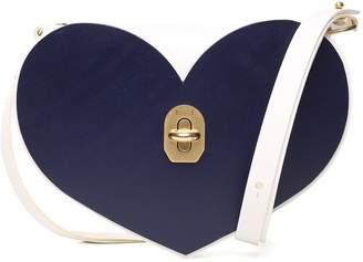 Niels Peeraer Heart Bi-colour Smooth-leather Shoulder Bag