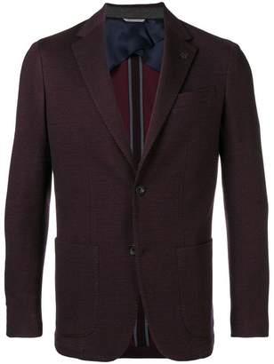 Canali front button blazer
